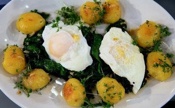 Espinaca con Huevos Pochè-1