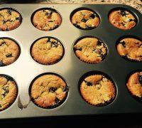 muffins de maracuya y arandanos
