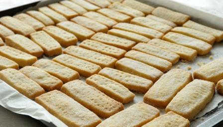 Shortbread sobre la placa